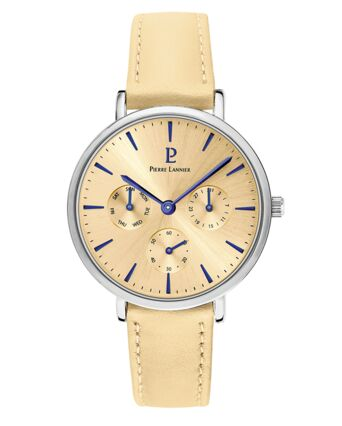 Quartz Ladies Watch SYMPHONY Beige Dial Sand Leather Strap