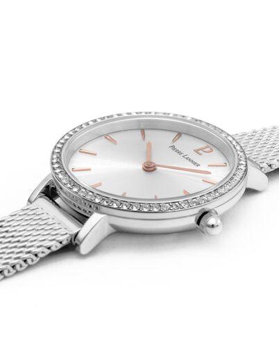 Quartz Ladies Watch NOVA Silver Dial Silver Steel Strap