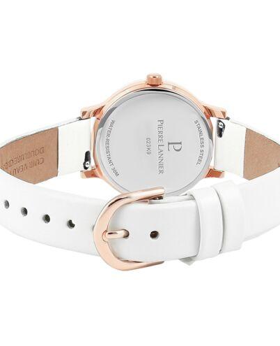 Quartz Ladies Watch LIGNE PURE White Dial White Leather Strap