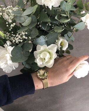 Montre Femme MULTIPLES Cadran Doré Bracelet Acier Milanais Doré