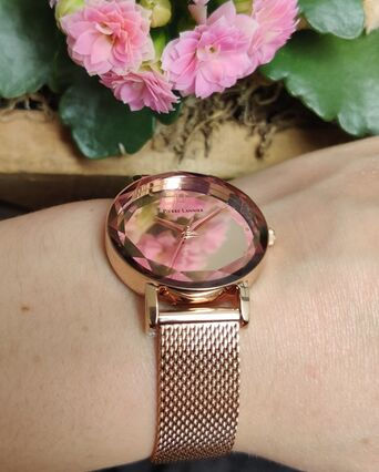 Quartz Ladies Watch MULTIPLES Rose Gold colour Dial Rose Gold colour Mesh Strap