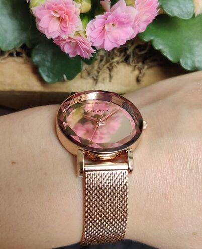 Quartz Ladies Watch MULTIPLES Rose Gold colour Dial Rose Gold colour Mesh Strap