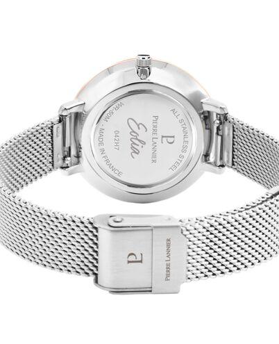 Quartz Ladies Watch EOLIA White Dial Silver Mesh steel Strap
