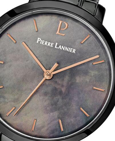 Montre Femme AURA Cadran Noir Bracelet Acier Noir