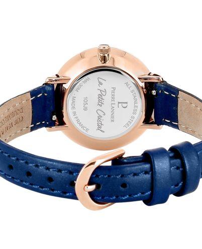 Quartz Ladies Watch PETITE CRISTAL Blue Dial Blue Leather Strap