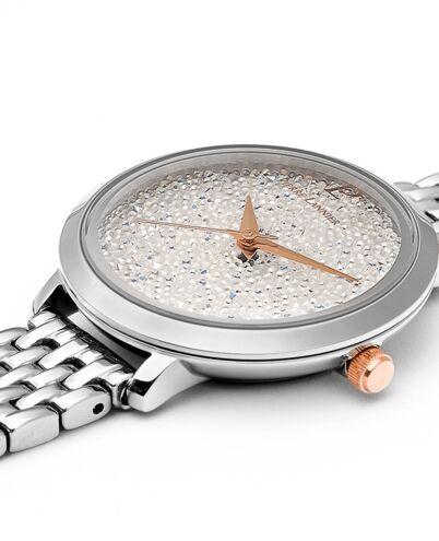 Quartz Ladies Watch Petite Cristal White Dial Silver  steel Strap