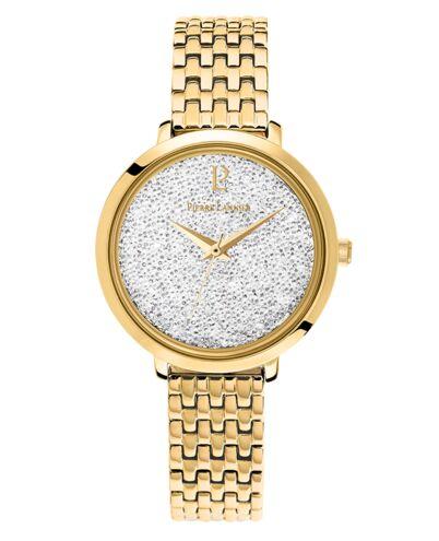 Montre Femme Petite Cristal Cadran Blanc Bracelet Acier Doré