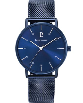 Quartz Men's Watch CITYLINE Blue Dial Blue Mesh steel Strap