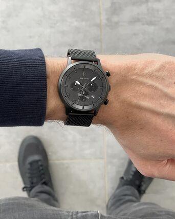 Quartz Men's Watch ABSOLU Black Dial Black Mesh steel Strap