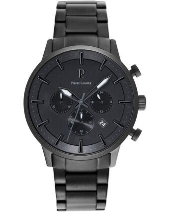Quartz Men's Watch ABSOLU Black Dial Black Steel Strap