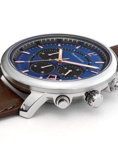 Montre Homme IMPULSION Cadran Bleu Bracelet Cuir Brun