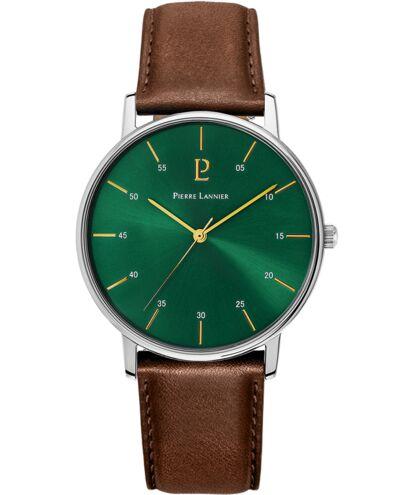 Montre Homme CITYLINE Cadran Vert Bracelet Cuir Brun