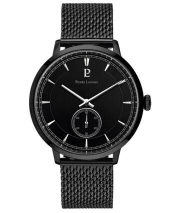 Quartz Men's Watch ALLURE Black Dial Black Mesh steel Strap