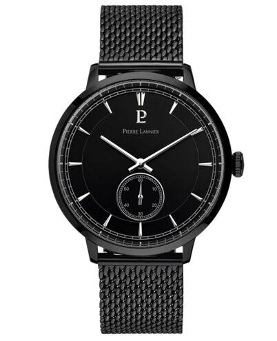 Montre Homme ALLURE Cadran Noir Bracelet Acier milanais Noir