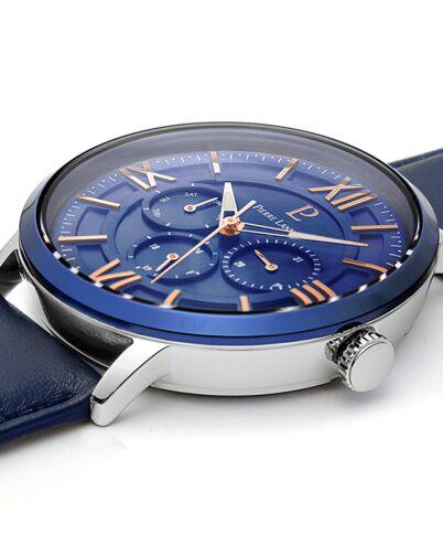 Montre Homme BEAUCOUR Cadran Bleu Bracelet Cuir Bleu