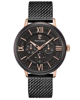 Montre Homme BEAUCOUR Cadran Noir Bracelet Cuir noir
