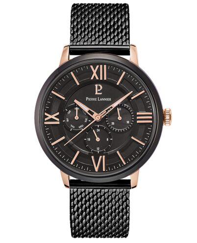 Quartz Men's Watch BEAUCOUR Black Dial Black Strap