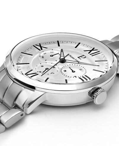 Quartz Men's Watch BEAUCOUR White Dial Silver Steel Strap