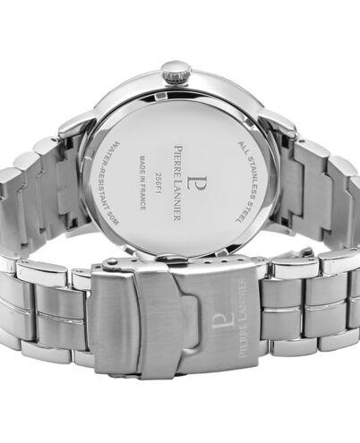 Quartz Men's Watch BEAUCOUR White Dial Silver Steel Strap