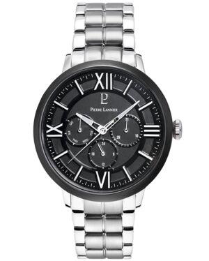 Quartz Men's Watch BEAUCOUR Black Dial Steel Strap