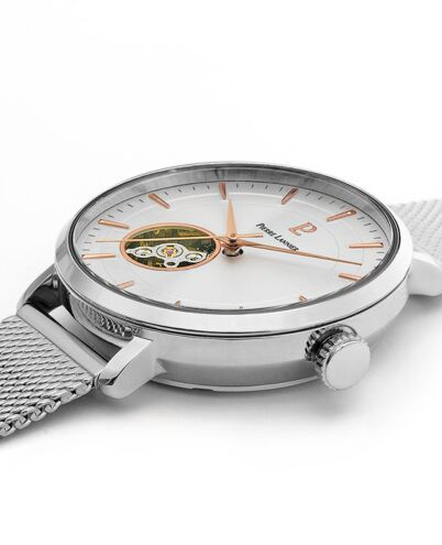 Automatic Ladies Watch AUTOMATIC Silver Dial Silver Mesh steel Strap
