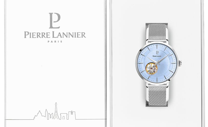 Automatic Ladies Watch AUTOMATIC Blue Dial Silver Mesh steel Strap