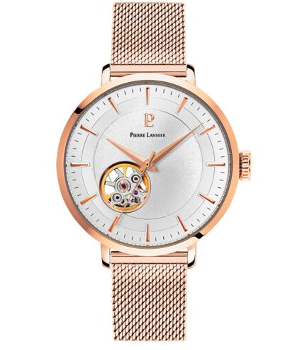 Automatic Ladies Watch AUTOMATIC Silver Dial Rose Gold colour Mesh steel Strap