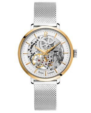 AUTOMATIC Ladies Watch AUTOMATIC White Dial Silver Strap