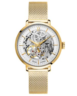 AUTOMATIC Ladies Watch AUTOMATIC Silver Dial Gold Strap