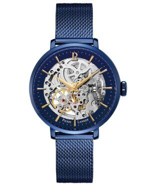 Montre Femme AUTOMATIC Cadran Bleu Bracelet acier milanais Bleu