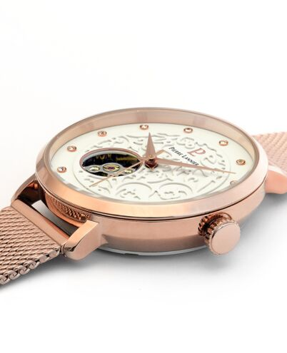 AUTOMATIC Ladies Watch EOLIA White Dial Rose Gold colour Mesh steel Strap