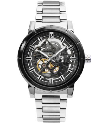 AUTOMATIC Men's Watch AUTOMATIC Black Dial Silver Steel Strap