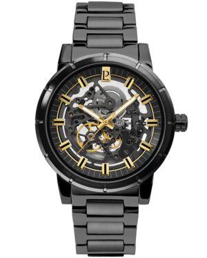 AUTOMATIC Men's Watch AUTOMATIC Black Dial Black Steel Strap