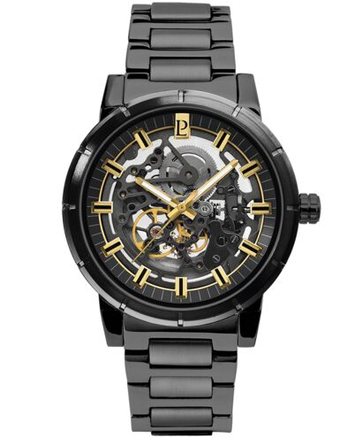 AUTOMATIC Men's Watch AUTOMATIC Black Dial Black Steel Strap