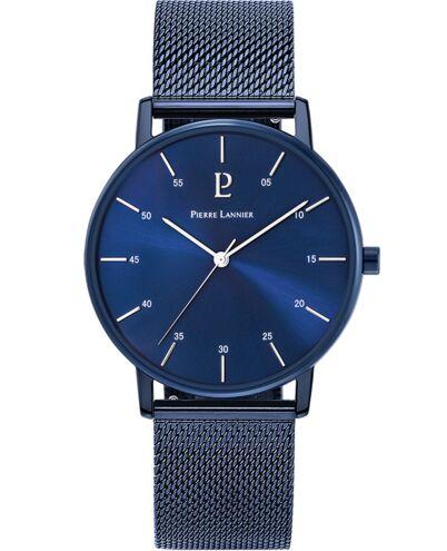 Coffret Homme CITYLINE Cadran Blanc Bracelet Acier Milanais Bleu