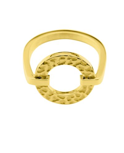 Ring CAPRICE steel gold 52mm