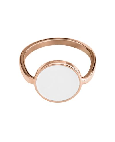 Ring SYMPHONY steel rose gold white 54mm