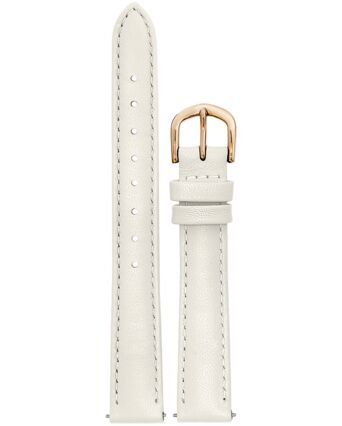 Bracelet Dame Cuir Beige Boucle Doré Rose 14mm