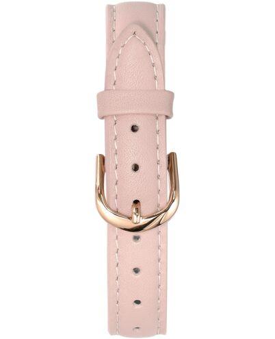 BRACELET DAME CUIR ROSE BOUCLE DORE ROSE 14 mm