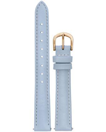 BRACELET DAME CUIR BLEU BOUCLE DORE ROSE 14mm