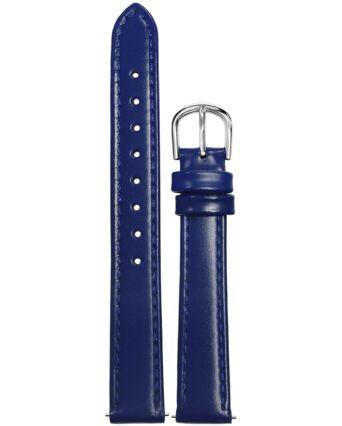 BRACELET DAME CUIR BLEU BOUCLE ACIER 14 mm