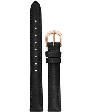 Black Leather Ladies 12MM Strap