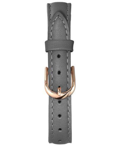 Grey Leather Ladies 12MM Strap