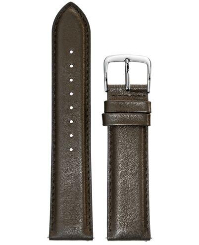 BRACELET HOMME CUIR BRUN BOUCLE ACIER 22mm