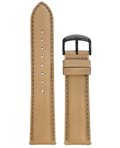BRACELET HOMME CUIR SABLE BOUCLE NOIRE 22mm