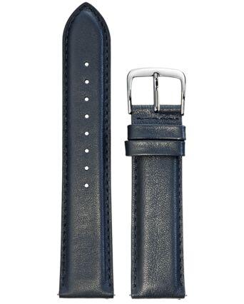 BRACELET HOMME CUIR BLEU BOUCLE ACIER 22mm