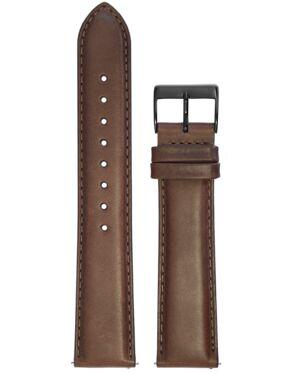 BRACELET HOMME CUIR BRUN BOUCLE NOIRE 20mm