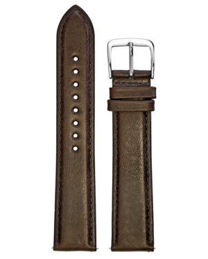 BRACELET HOMME CUIR BRUN BOUCLE ACIER 20mm