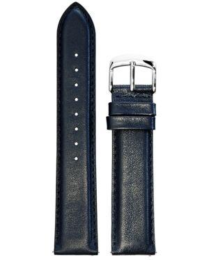 BRACELET HOMME CUIR BLEU BOUCLE ACIER 20mm
