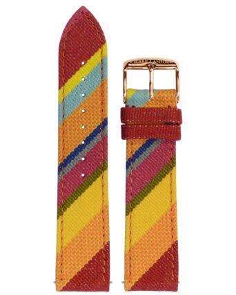 Bracelet Femme Tissu Rouge 20 MM
